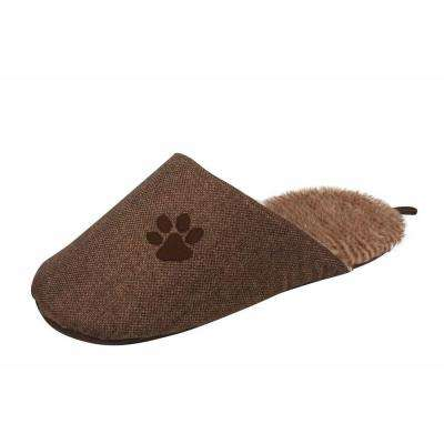 One-Size Brown Slip-On Fashionable Slipper Bed