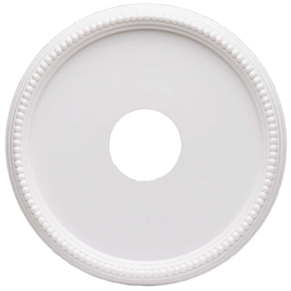 16 in. White Beaded Ceiling Medallion