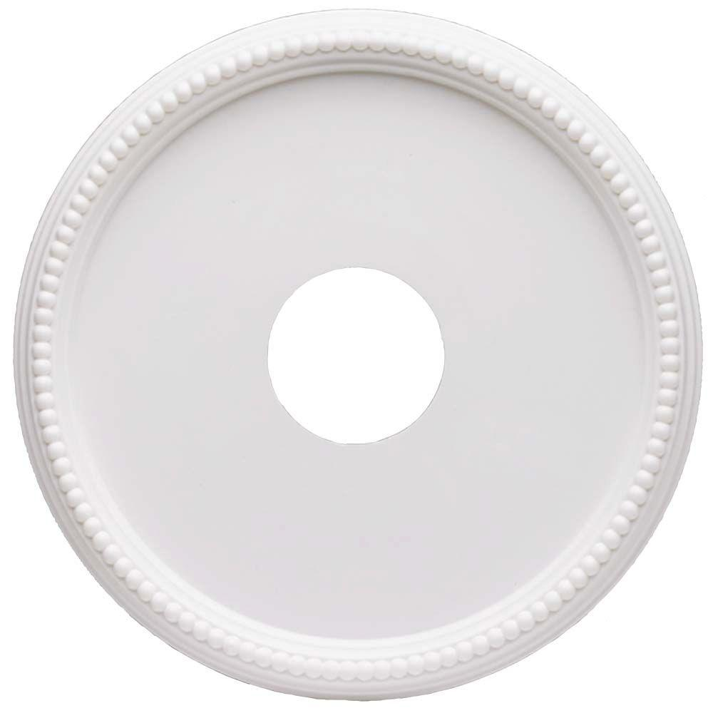 Hampton Bay 16 In White Beaded Ceiling Medallion 82285 The Home Depot