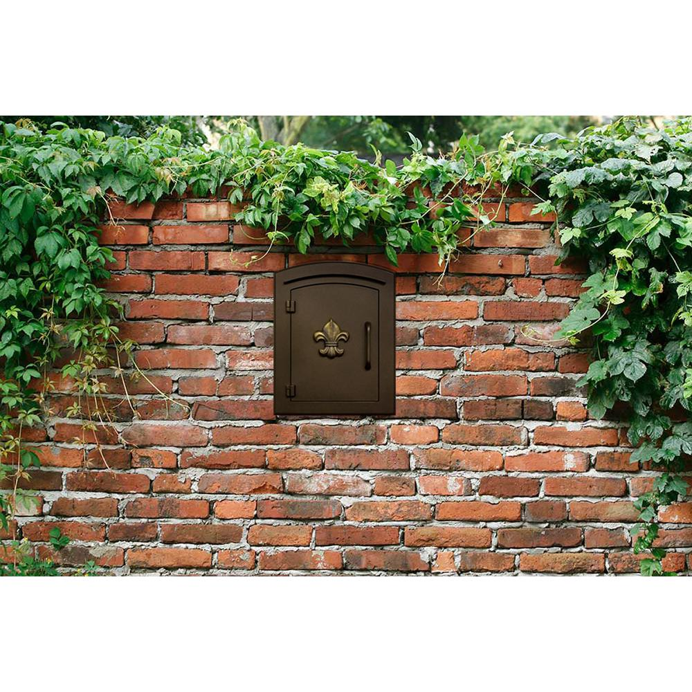 Qualarc MC-1400-BLK Manchester Plain Door Column Mount Non-Locking Mailbox Black