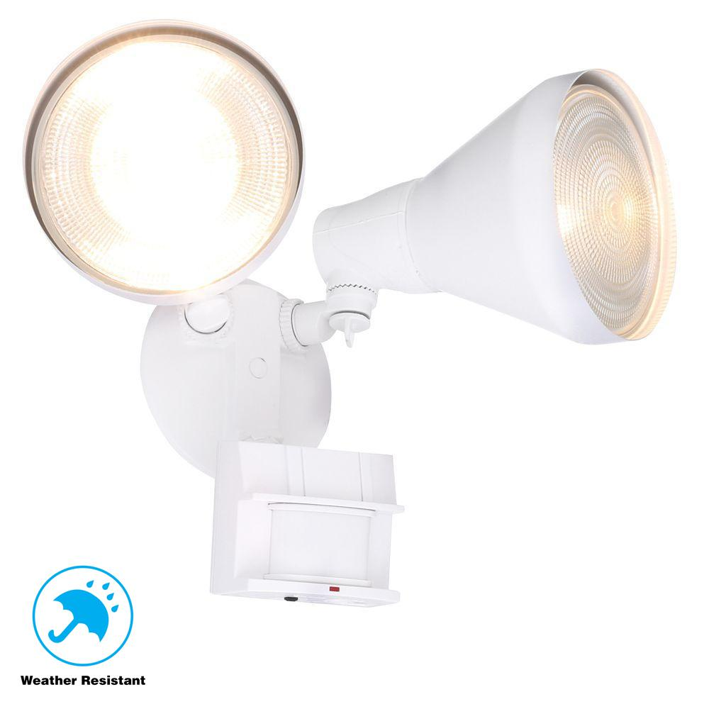 Defiant 180-Degree White Motion Activated Outdoor Flood