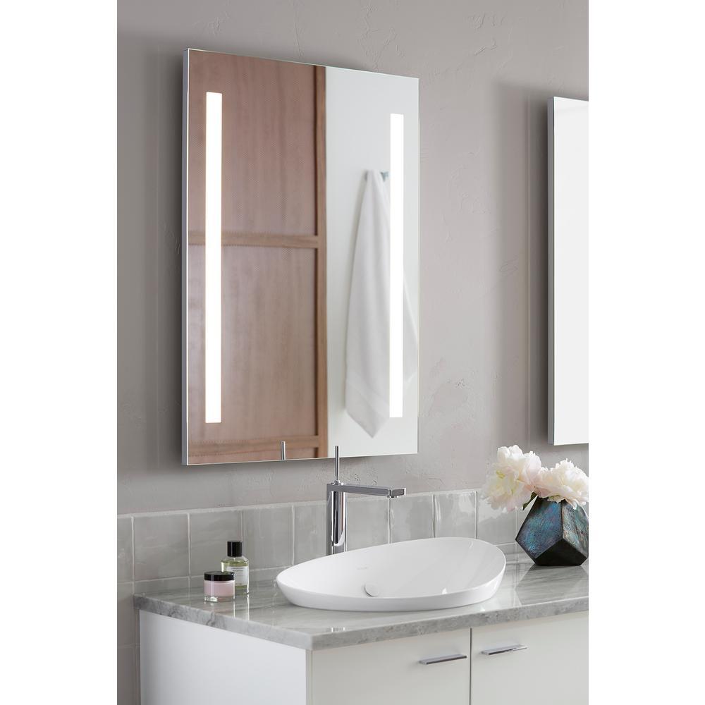 Kohler 24 In W X 33 H Frameless, Kohler Led Bathroom Mirror