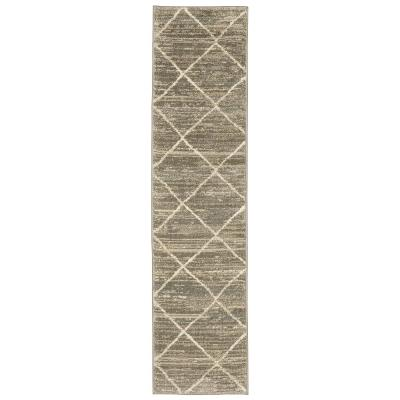 Luciana Gray 2 ft. x 8 ft. Geometric Runner Rug