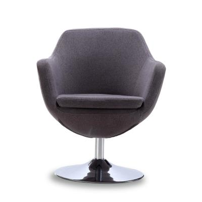 Gray Caisson Swivel Accent Chair