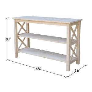Marvelous International Concepts Hampton Unfinished Console Table Ot Pdpeps Interior Chair Design Pdpepsorg