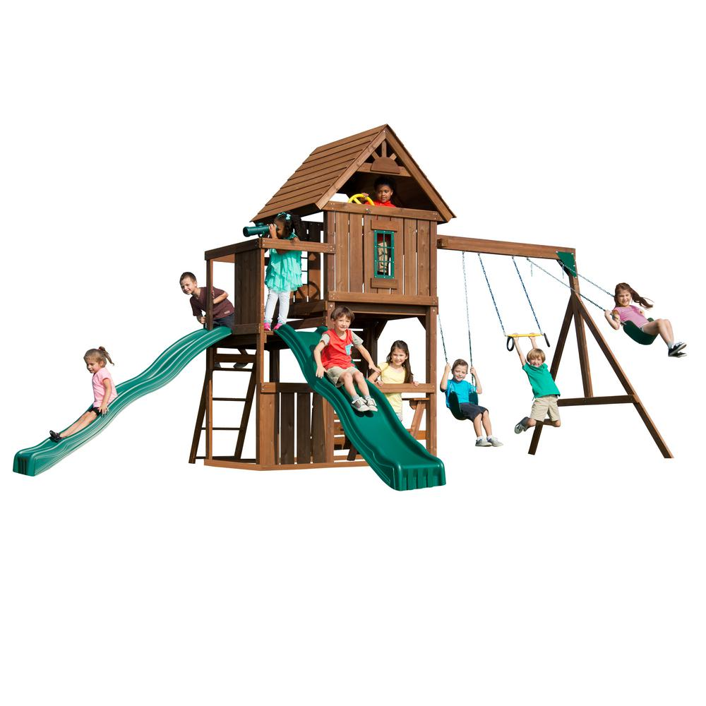 Swing-N-Slide Playsets Monteagle Wood Complete Swing Set