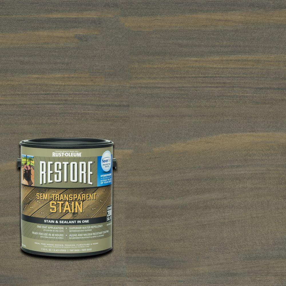 Rust-Oleum Restore 1 gal. Semi-Transparent Stain Carbon with NeverWet