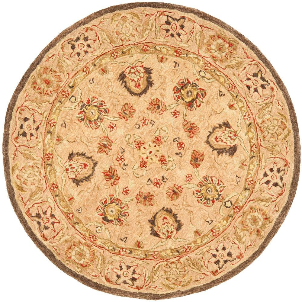safavieh anatolia ivory beige 4 ft x 4 ft round area rug an512a 4r the home depot. Black Bedroom Furniture Sets. Home Design Ideas