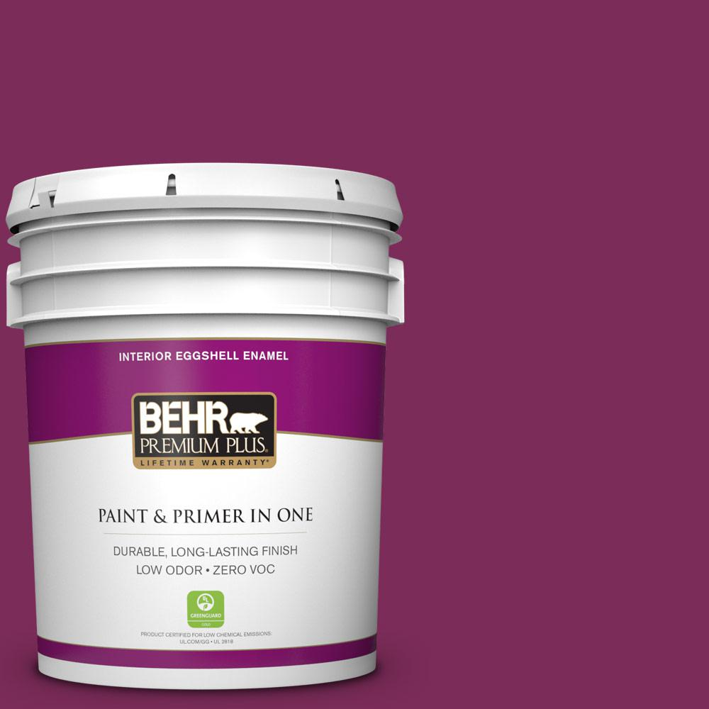 5 gal. #HDC-WR14-12 Cheerful Wine Zero VOC Eggshell Enamel Interior Paint