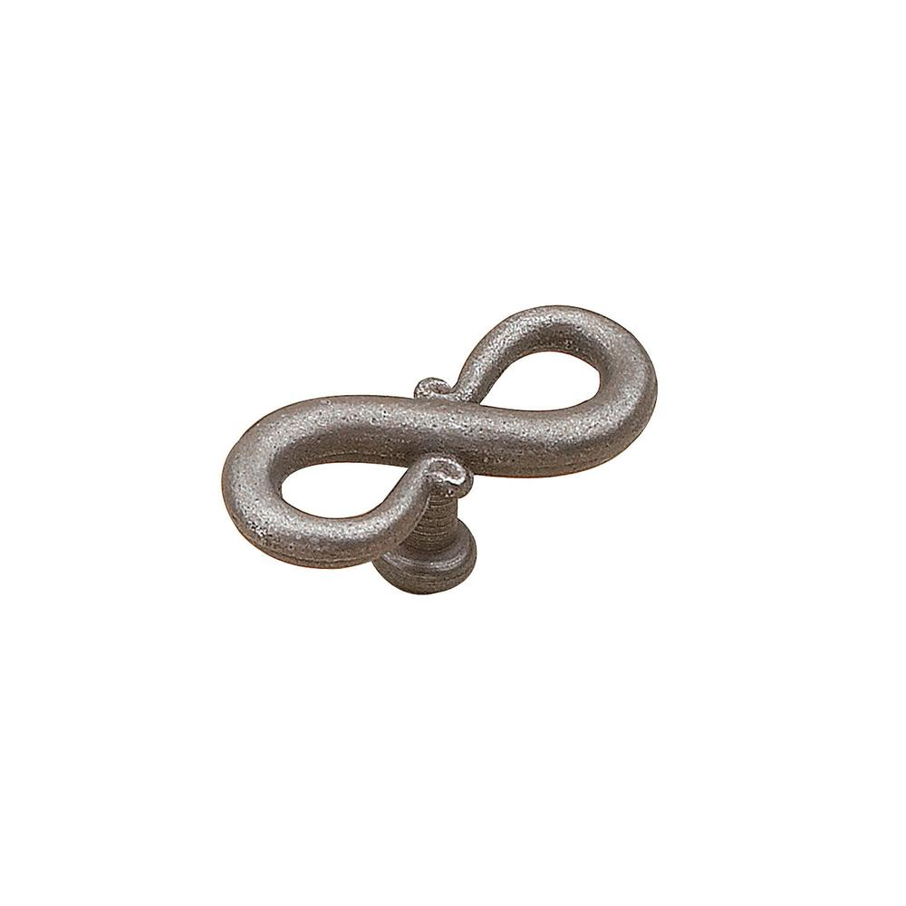 3-1/8 in. (80 mm) Transitional Natural Iron Spiral Cabinet Knob