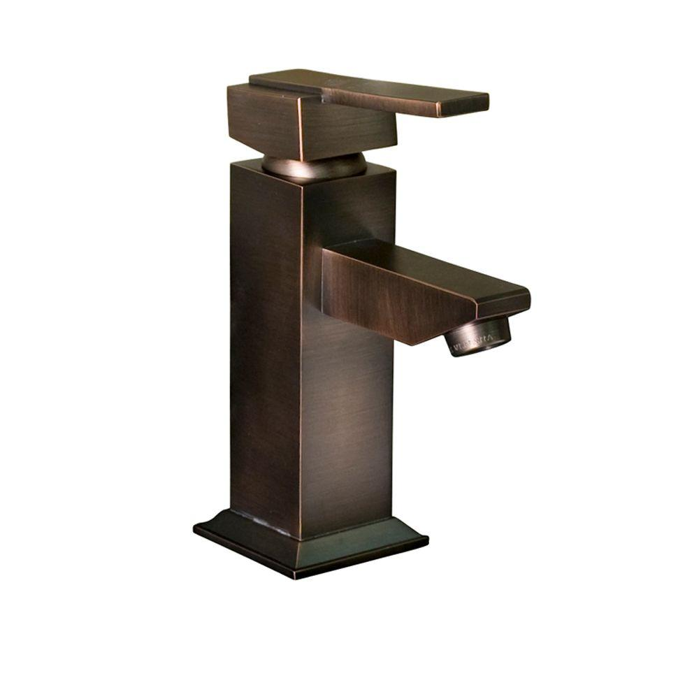 Barclay Products Fulton Single Hole 1-Handle Mid-Arc Bathroom Faucet in Oil Rubbed Bronze-DISCONTINUED