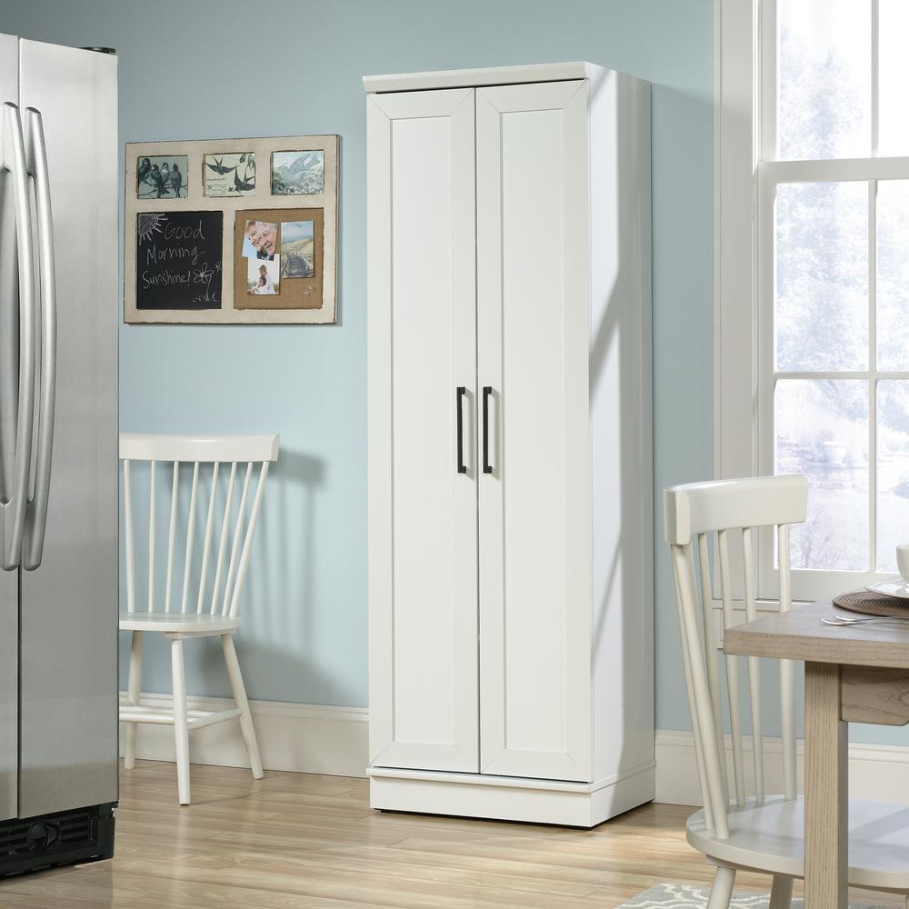 HomePlus Soft White 23 in. Wide Storage Cabinet
