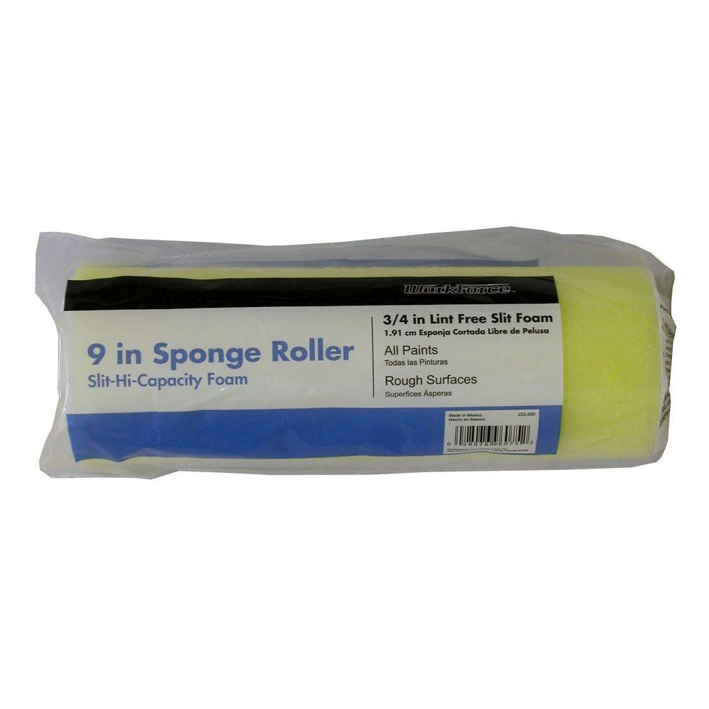 9 In X 3 4 In Slit High Capacity Foam Roller Cover