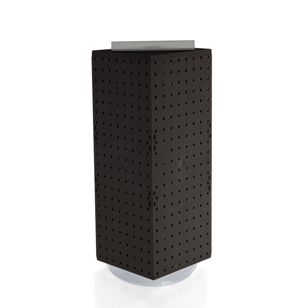 20 in. H x 8 in. W Pegboard Counter Display in Black Styrene