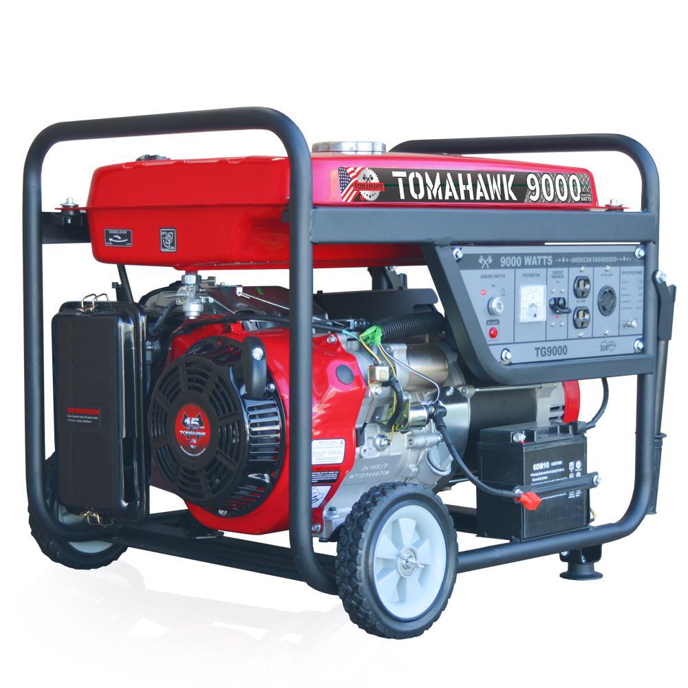 TG9000 7,500-Watt Gas Powered Recoil Start Portable Generator with 15 HP Engine