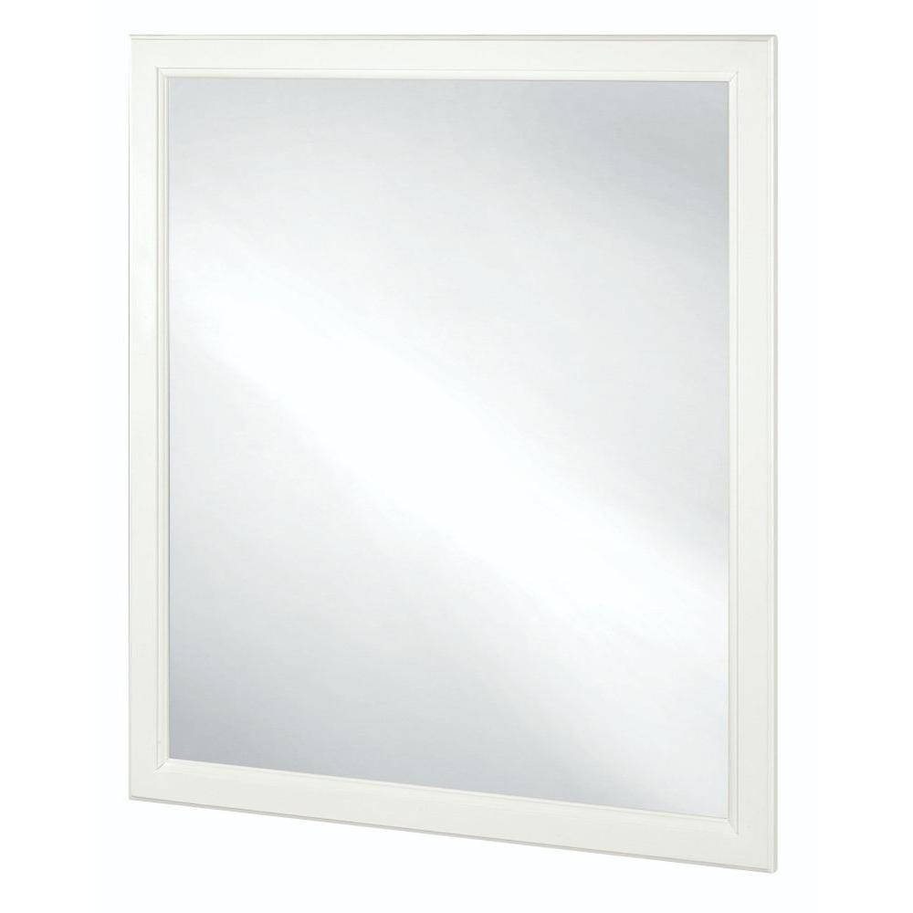 Emberson 34 in. L x 30 in. W Framed Vanity Wall Mirror in White
