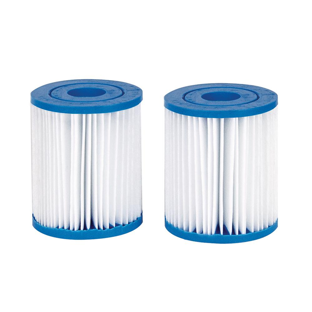Poolmaster 1-1/8 in. Dia Swimming Pool Replacement Filter Cartridge for  Intex Twin Pack E-Version 59904 Pool Filter