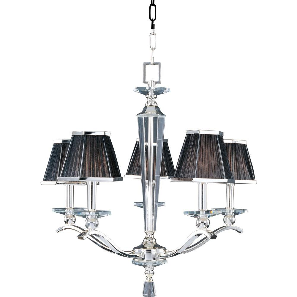 Oriax Infinite 5-Light Plated Silver Incandescent Ceiling Chandelier-DISCONTINUED