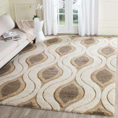 Florida Shag Cream/Smoke 11 Ft. X 15 Ft. Area Rug