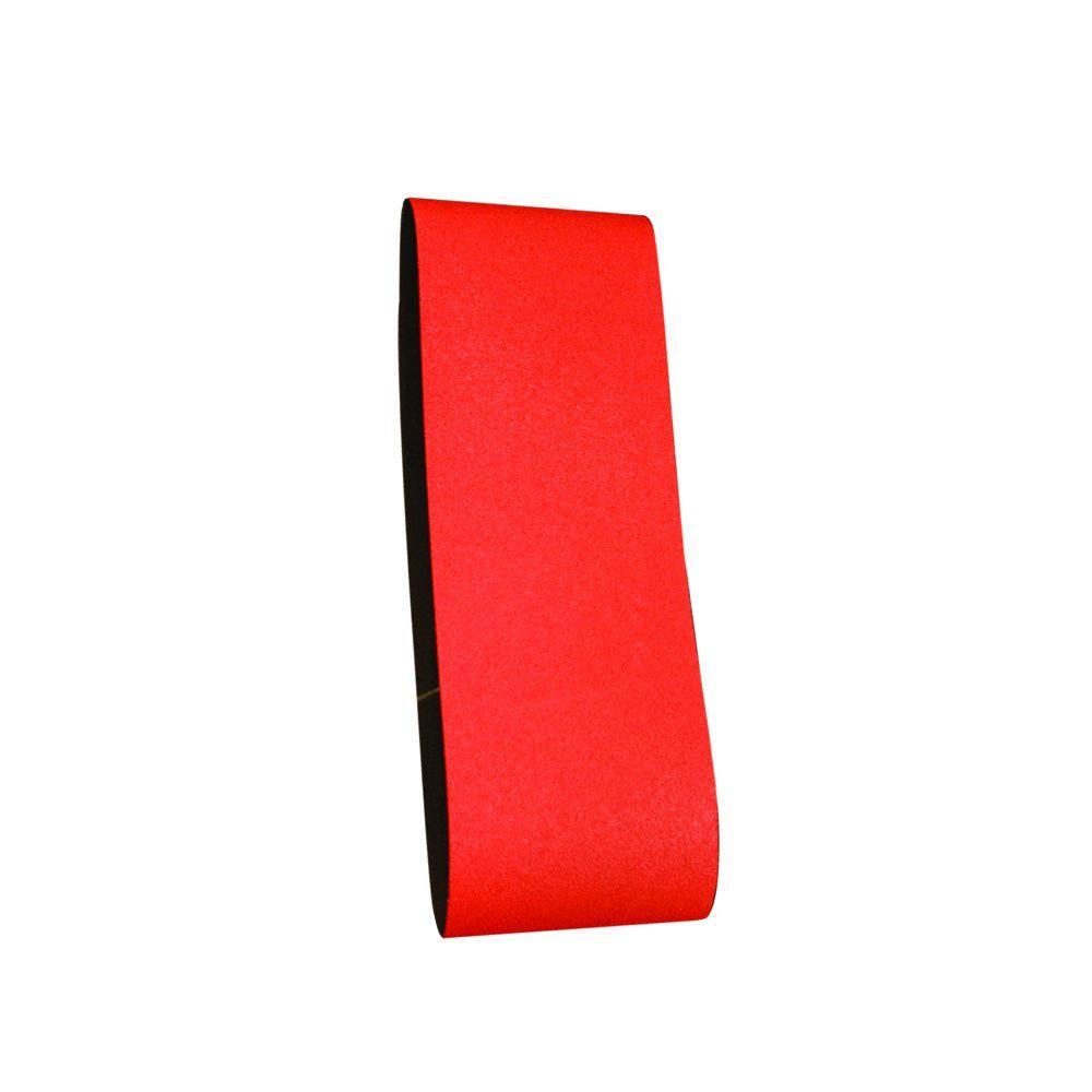 3 in. x 18 in. 80-Grit Sanding Belt (5-Pack)