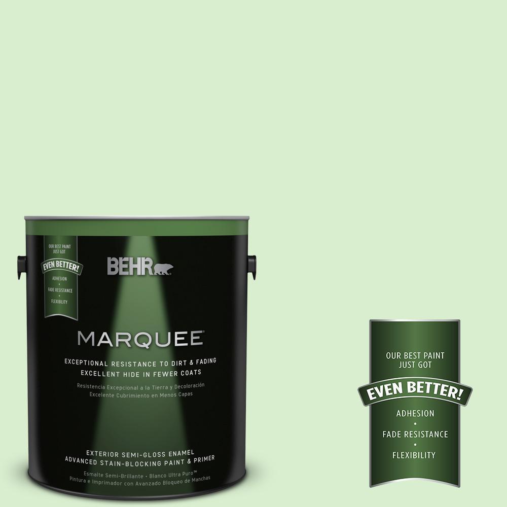 BEHR MARQUEE 1-gal. #430A-2 Seafoam Spray Semi-Gloss Enamel Exterior Paint