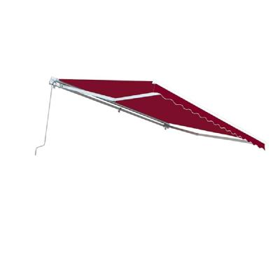 12 ft. Manual Patio Retractable Awning (120 in. Projection) in Burgundy