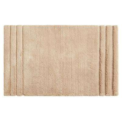Empress 20 in. x 34 in. Cotton Bath Mat in Barley