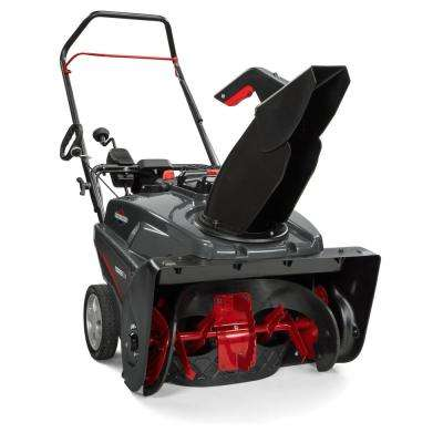 22 in. 208cc Single Stage Electric Start Gas Snowthrower with Snow Shredder Auger