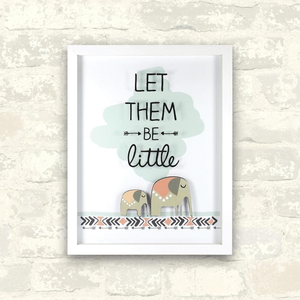 11 in. x 14 in. Let Them Be Little 1-Piece Shadowbox