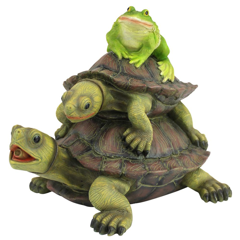 Design Toscano Along For The Ride Frog And Turtles Stone