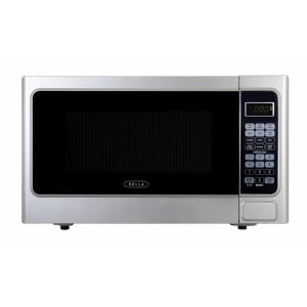 Bella 1.1 cu. ft.1000-Watt Countertop Microwave Oven in Platinum by Bella