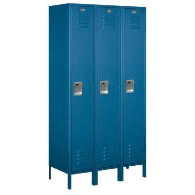 51000 Series 45 in. W x 78 in. H x 18 in. D Single Tier Extra Wide Metal Locker Assembled in Blue
