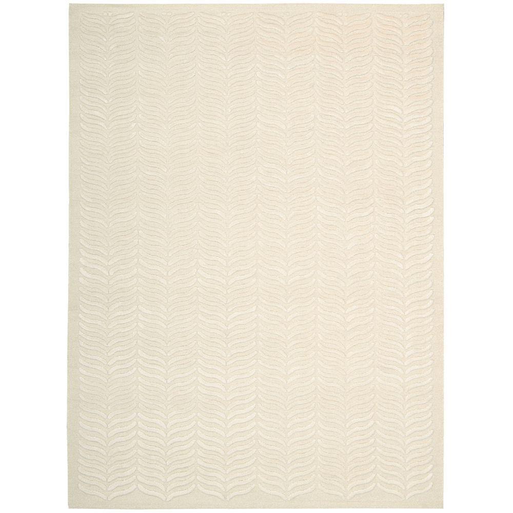 Silken Textures Ivory 6 Ft X 8 Area Rug