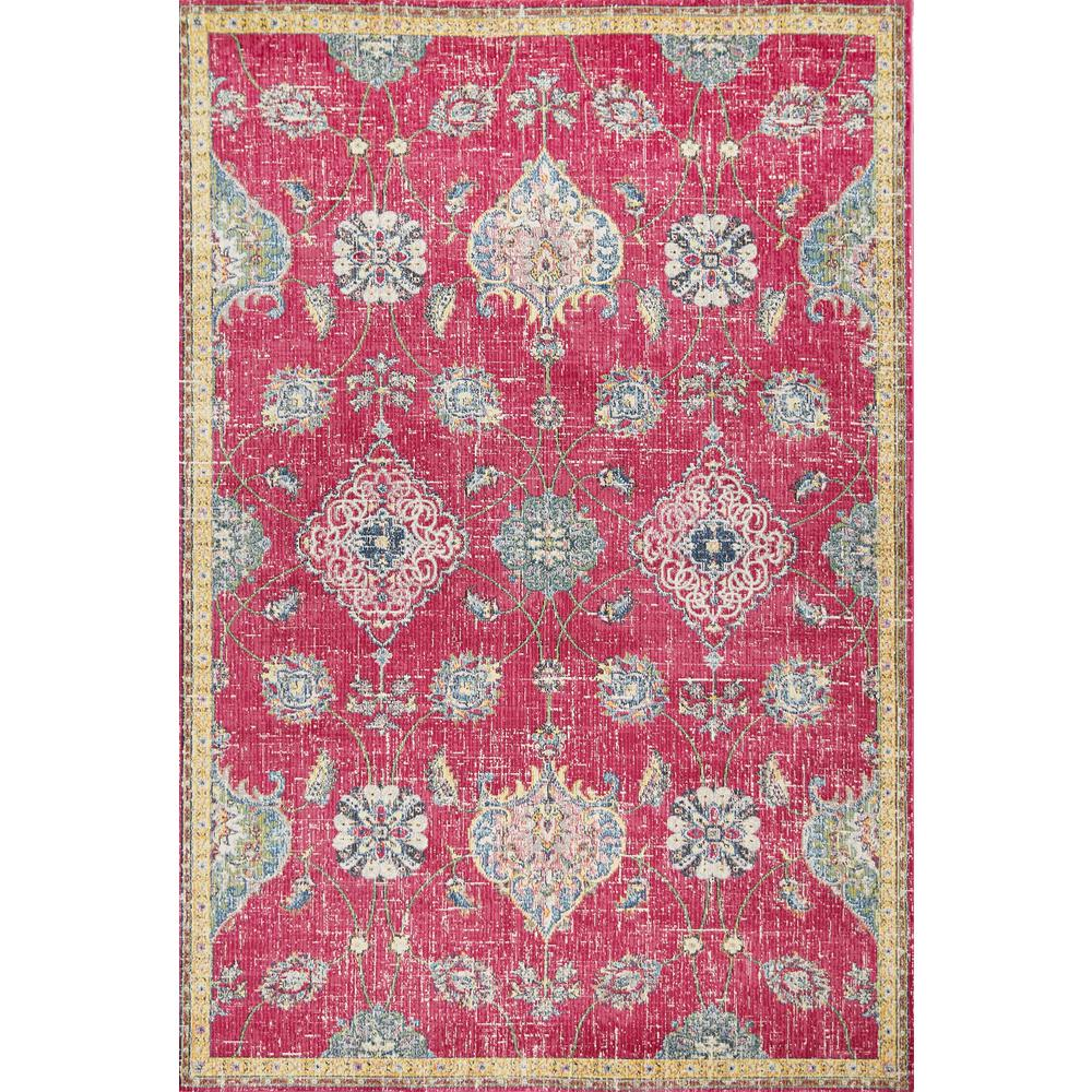 Dreamweaver Pink Layla 9 ft. x 13 ft. Distressed Area rug