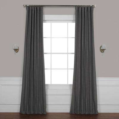 Armour Grey Gray Bellino Blackout Room Darkening Curtain - 50 in. W x 108 in. L