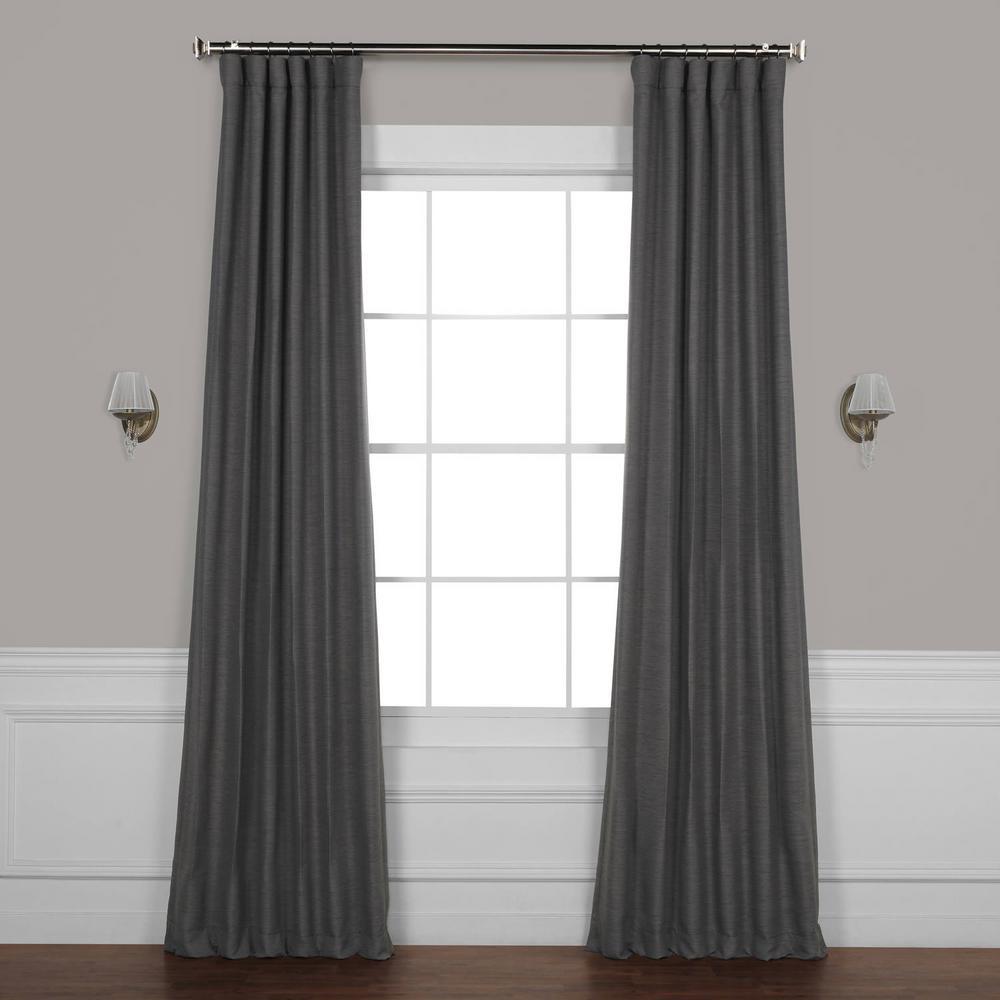Armour Grey Gray Bellino Blackout Room Darkening Curtain - 50 in. W x 120 in. L