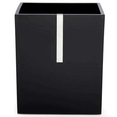Houston St. 10.5 in. Wastebasket in Black Resin