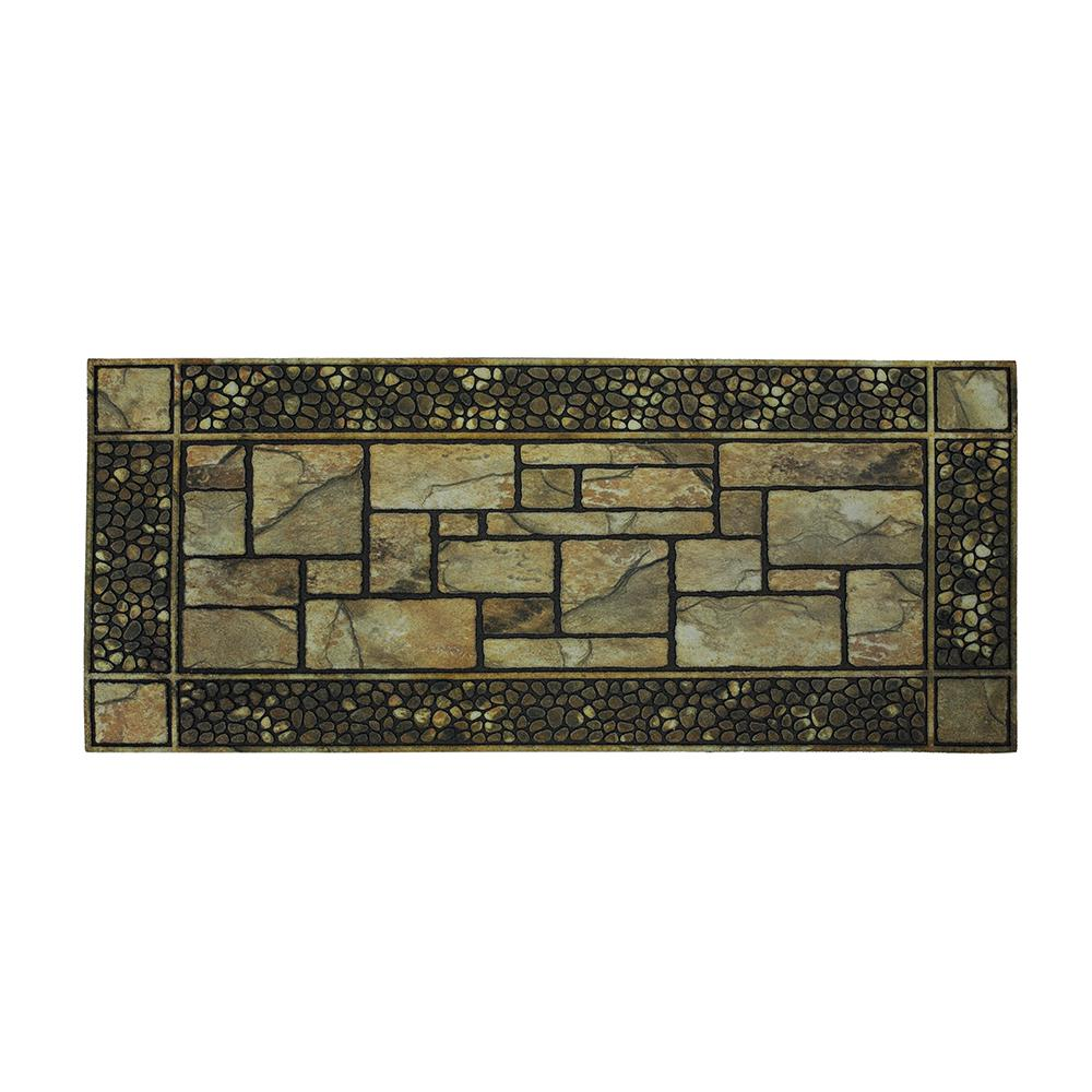 Mohawk Home Patio Stones Multi 19.5 In. X 47 In. Door Mat