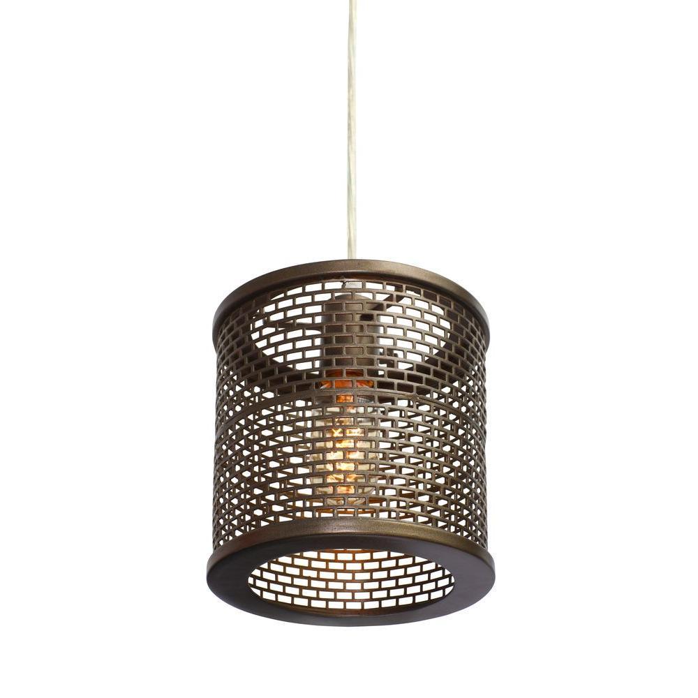 Lit-Mesh Test 1-Light New Bronze Mini Pendant