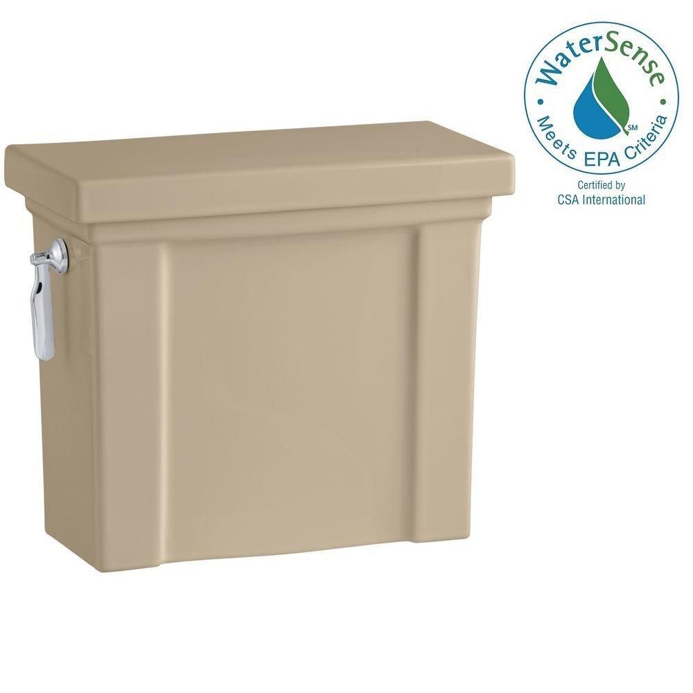 KOHLER Tresham 1.28 GPF Single Flush Toilet Tank Only with AquaPiston Flushing Technology in Mexican Sand