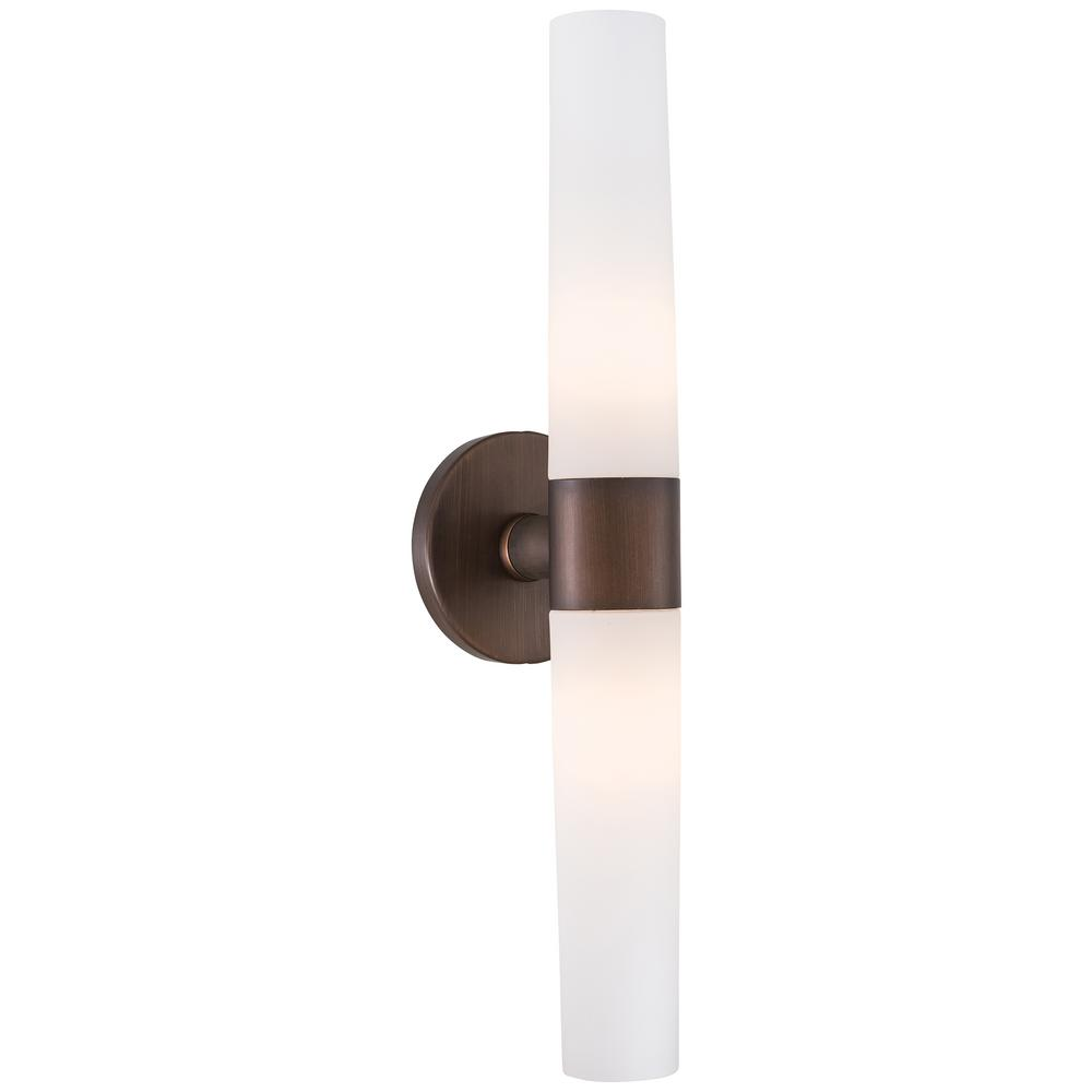 George Kovacs Saber 2 Light Painted Copper Bronze Wall Sconce P5042