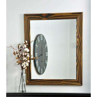 Rectangle Mocha Brown Vanity Wall Mirror