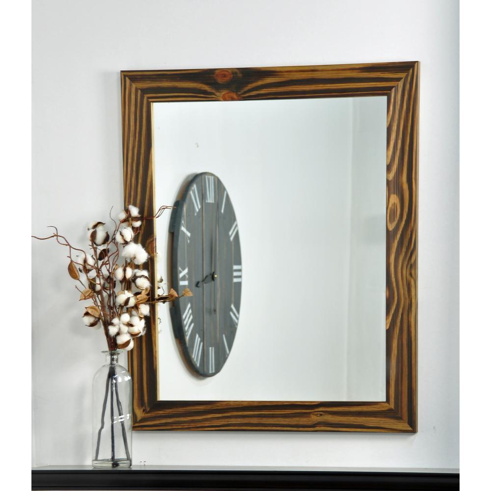 Rectangle Mocha Brown Vanity Wall Mirror