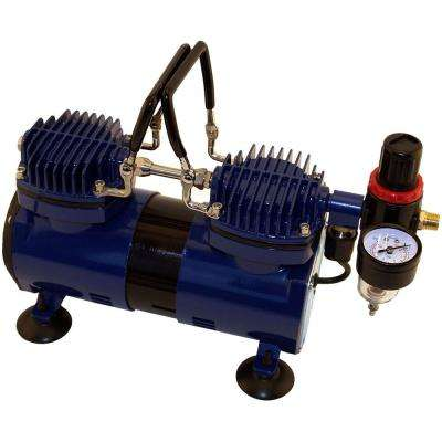 Dual Head 1/4 Hp Compressor With Auto Shutoff And Regulator