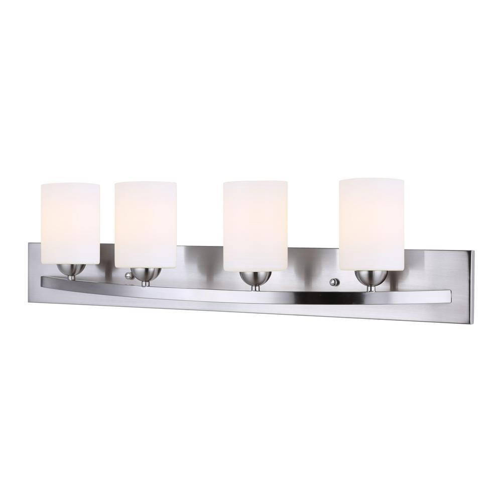 CANARM Hampton 4-Light Brushed Pewter Bath Light-IVL370A04BPT - The ...