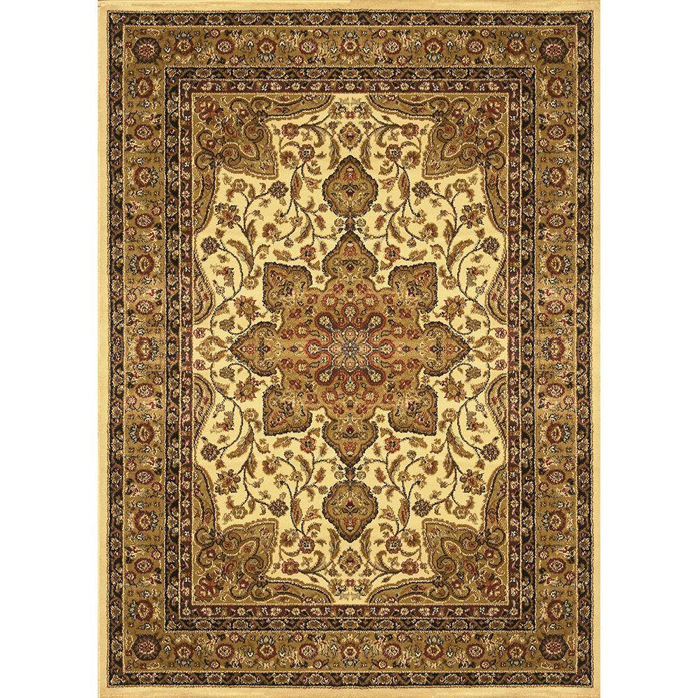 Home Dynamix Royalty Ivory 1 ft. 9 in. x 7 ft. 2 in. Indoor Area Rug
