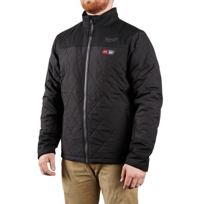 Men's Large M12 12-Volt Lithium-Ion Cordless AXIS Black Heated Quilted Jacket (Jacket Only)