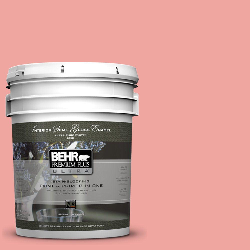 5-gal. #160B-4 Modestly Peach Semi-Gloss Enamel Interior Paint