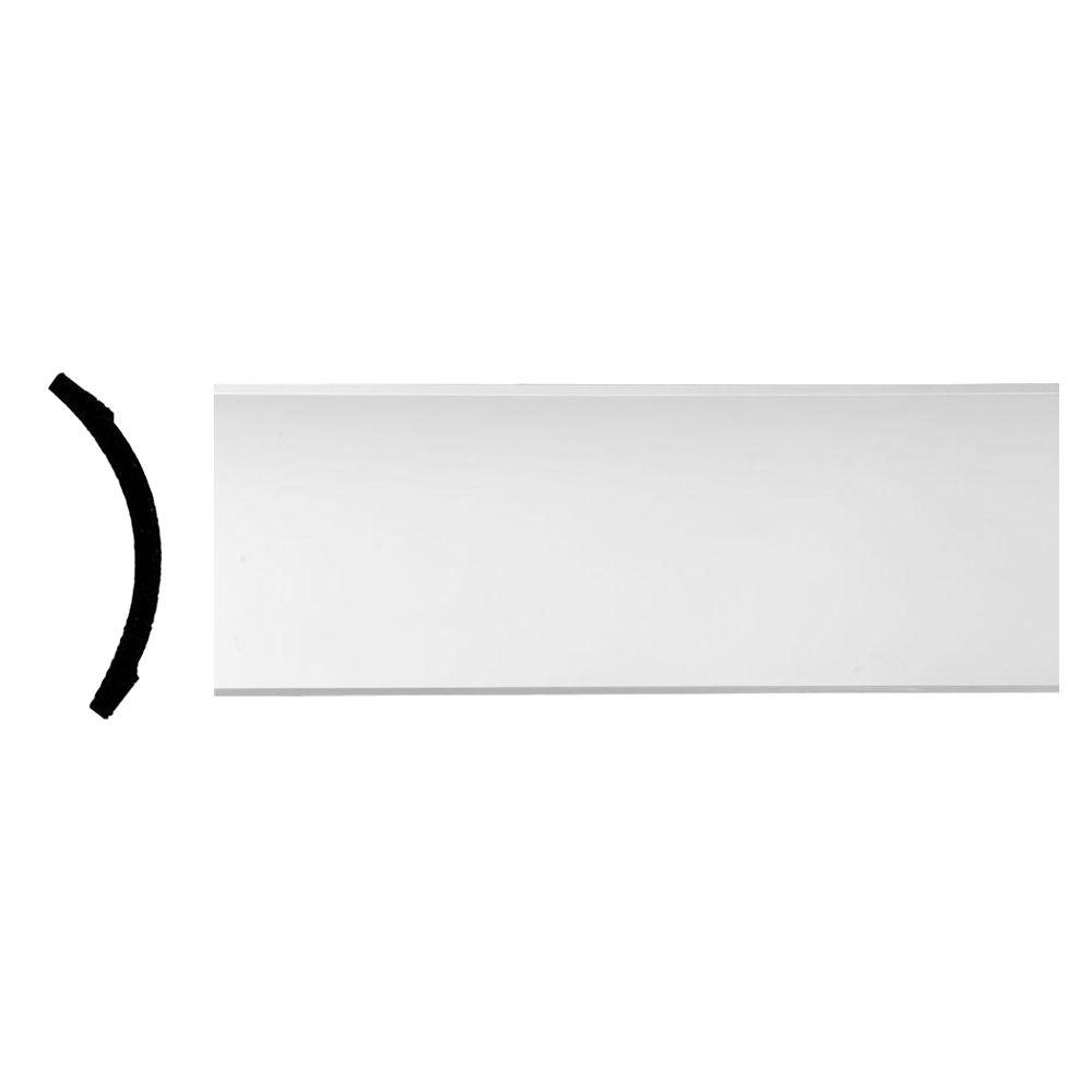 Ekena Millwork 8-1/2 in. x 8-1/2 in. x 94-1/2 in. Polyurethane Medway Traditional Smooth Crown Moulding