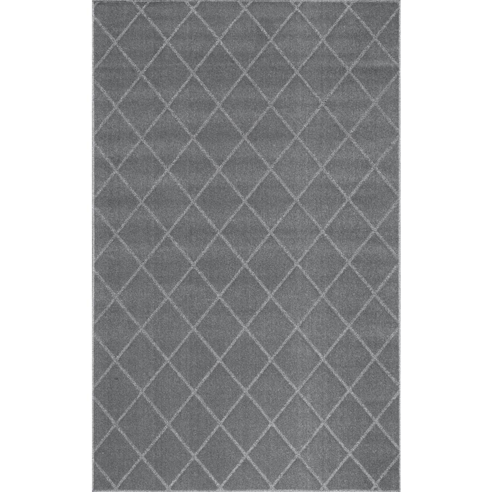 nuLOOM Herma Diamond Trellis Charcoal (Grey) 8 ft. 6 in. ...